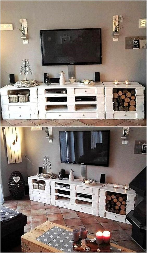 Original furniture with pallets! 20 ideas + video tutor …