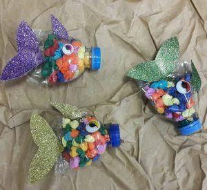 Diese Seite hat viele kostenlose Recycled Meerestiere Bastelidee für Kinder, Eltern und …   – Recycled sea animals craft