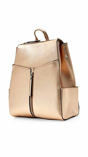 New look rose gold backpack