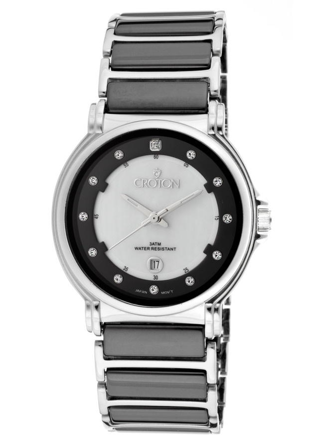 Price:$89.25 #watches Croton CN207302BKCR, With a royal appeal, this Croton timepiece has a regal design and adds a refined look to your wardrobe.