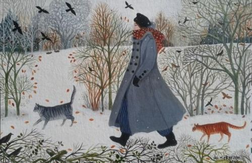"""thegiftsoflife: """" Another Walk in the Snow by Dee Nickerson """""""