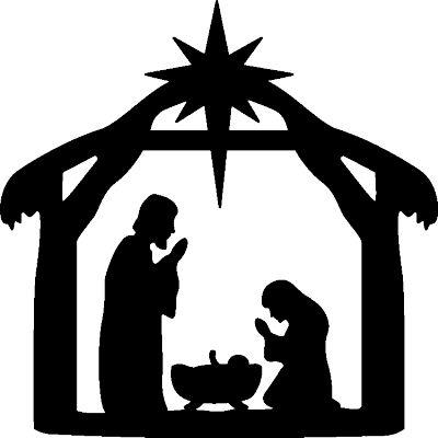 Cr che de noel silhouette recherche google cr ches de no l christmas nativity christmas - Dessin manger ...