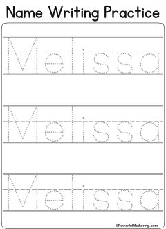 custom name tracing worksheets for preschool custom printa. Black Bedroom Furniture Sets. Home Design Ideas