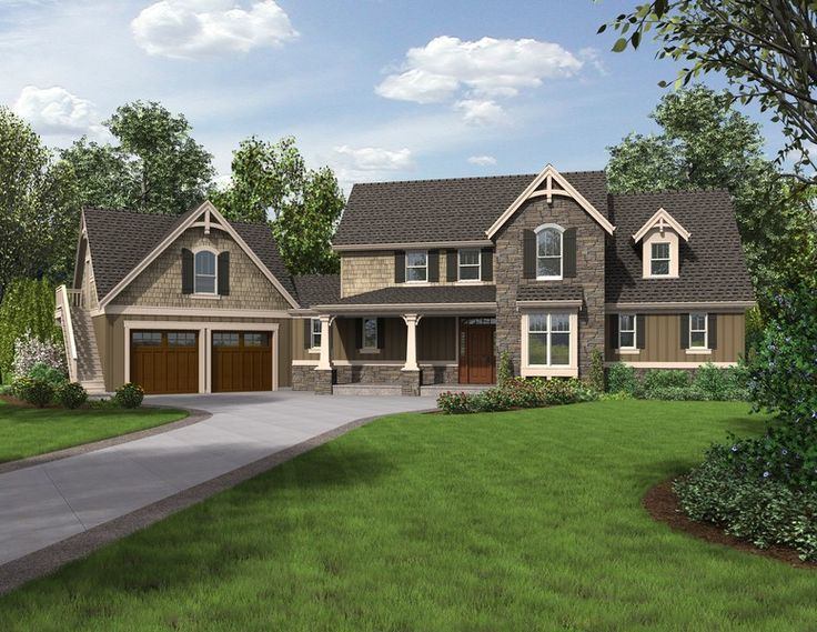 traditional two-story house fronts stone - Google Search