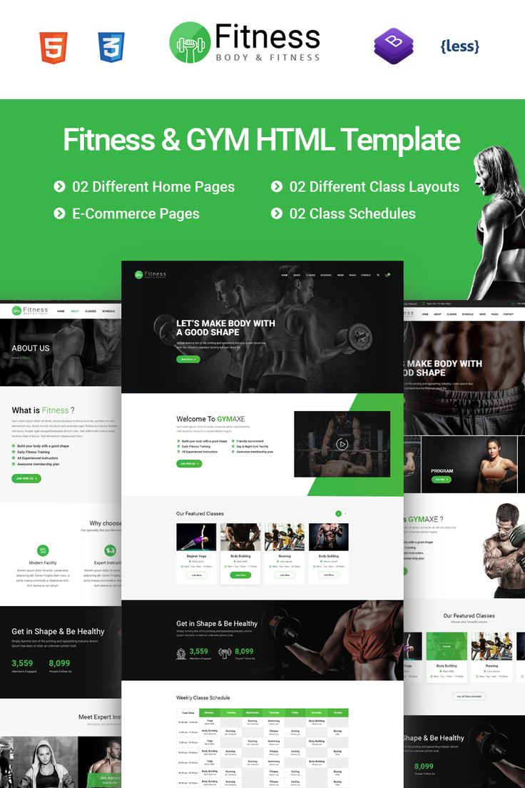 Fitness Gym Fitness Website Template 751