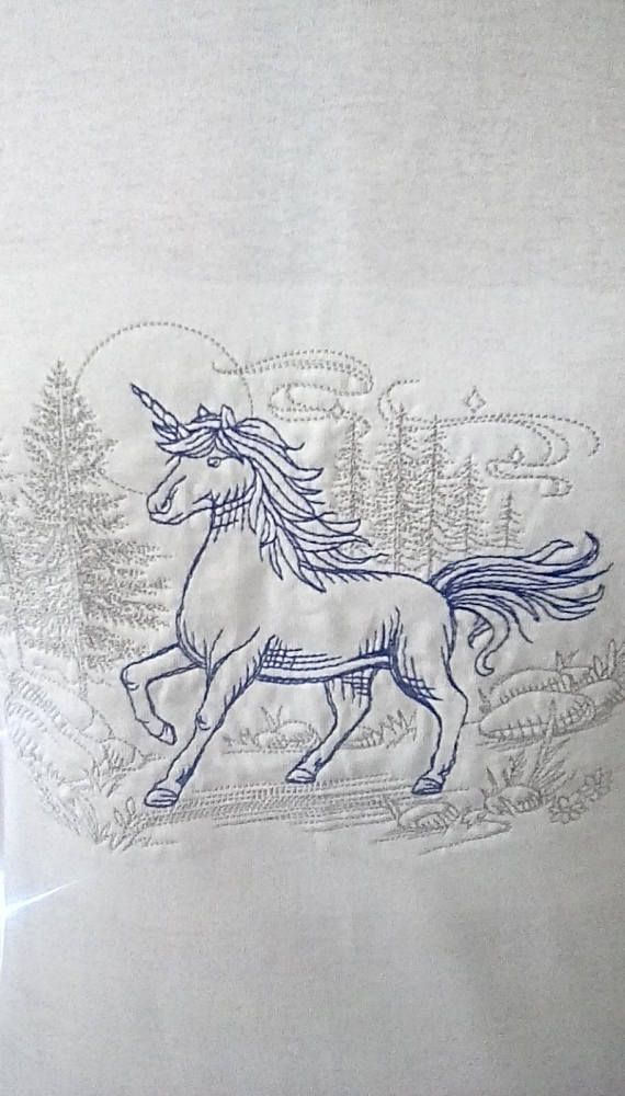 Check out this item in my Etsy shop https://www.etsy.com/uk/listing/547709745/white-t-shirt-with-a-blue-unicorn