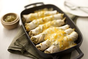 Creamy Chicken Enchiladas Verde - Made this tonight and it was incredible. Definitely something I'll be making again...every week if I could get away with it!