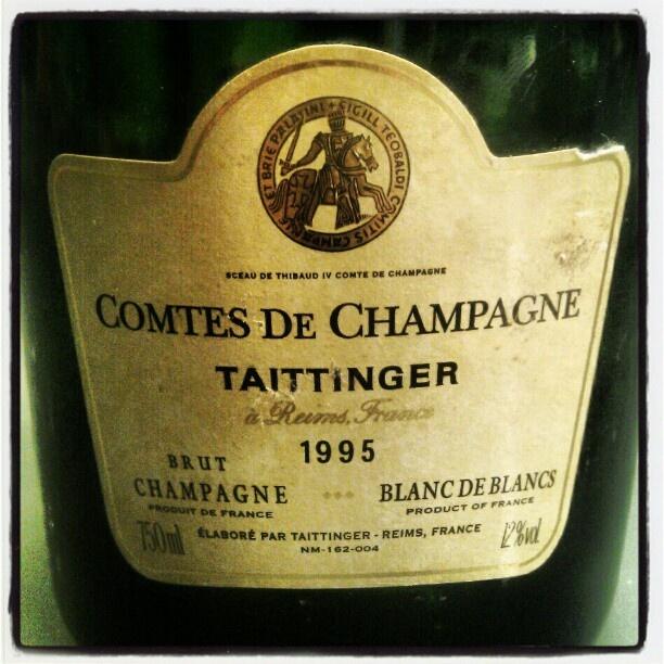 Taittinger Comtes De Champagne 1995    Stunning.