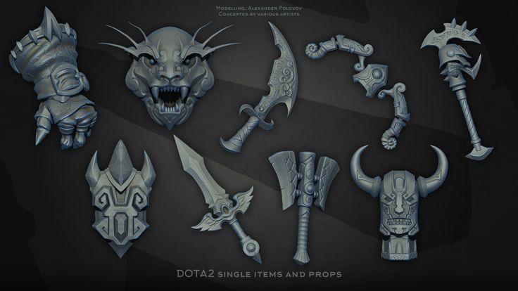 ArtStation - Dota 2 Single items, Alexander Polovov