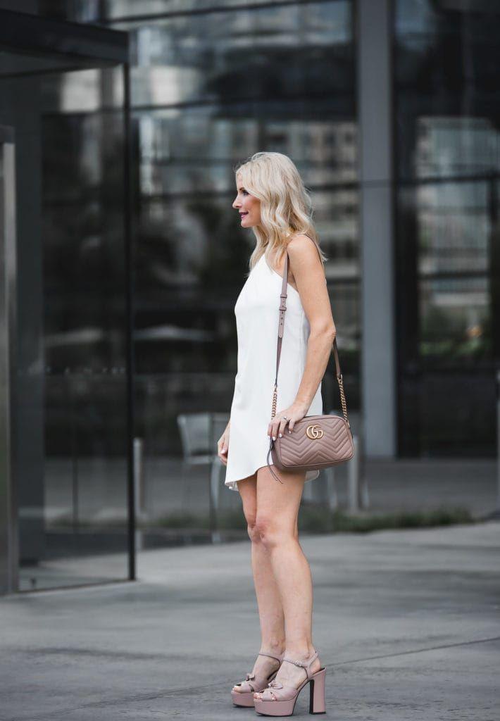 One Shoulder Dress / Alice + Olivia White Dress / Fashion Over 40