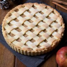 Mriežkový jablkový koláč