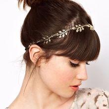 1 X verão estilo elegante da menina das mulheres Retro Vintage oca de Metal folha Elastic Headband Hairband faixa de cabelo acessórios presilhas(China (Mainland))