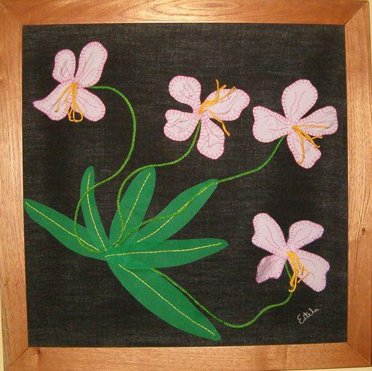 Flores Silvestres 3- Tapiz confeccionado en técnica de Patchwork