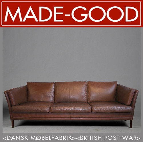 1970s Retro Vintage Midcentury Danish Mogensen Style Leather Lounge Club Sofa Ebay Furniture Pinterest And Sofas