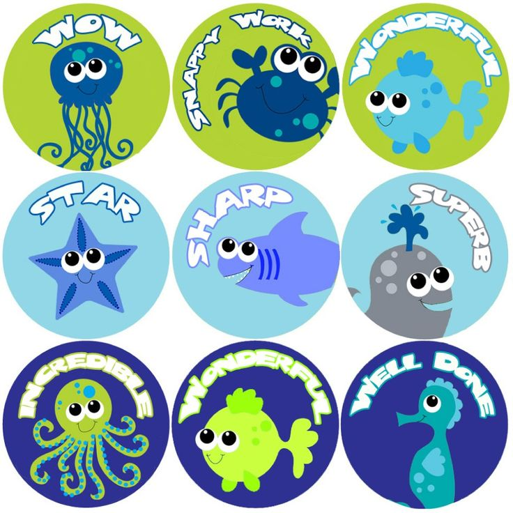 These colourful Deep Blue Sea Praise Words reward stickers are perfect to make a big impression on young learners and can be used with any Reward System.