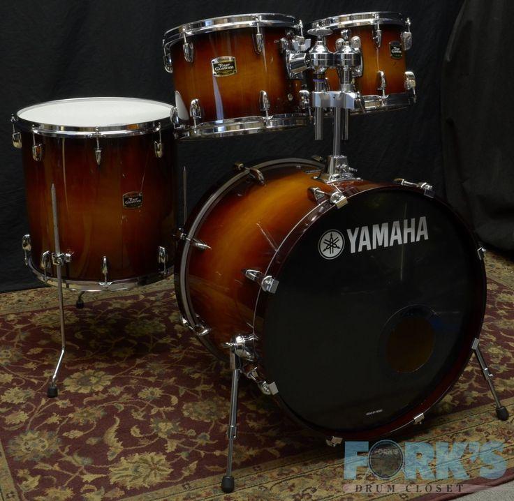 Yamaha Tour Custom 4 Piece Drum Set Used | eBay