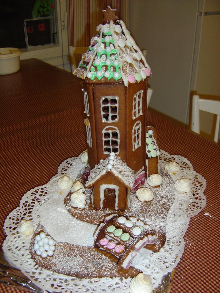 Make a gingerbread Moomin house for Christmas.