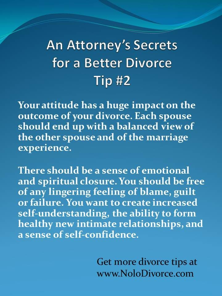 Divorce advice from expert attorney Ed Sherman's award-winning divorce book, Make Any Divorce Better. Tip # 2 ~ the importance of attitude. Click the image for more divorce resources.