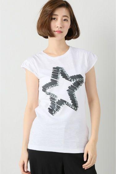 """HAPPINESS FAMOUS BLK  HAPPINESS FAMOUS BLK 7020 2016AW FIGARO Paris デザインTシャツで有名なイタリアブランド\""""HAPPINESS\""""よりTシャツが登場 ユニークなデザインとシルエットにこだわったTシャツはシーズン問わずワードローブに加えたいアイテム 女性らしいコンパクトなサイズ感でカーディガンやコートのインナーとしても重宝します HAPPINESS 世界中の有名デパートやセレクトショップで人気のイタリア製のTシャツブランドです スタイリングのポイントになる遊び心あるプリントが男女問わず人気です  モデルサイズ:身長:165cm バスト:80cm ウェスト:60cm ヒップ:86cm 着用サイズ:38"""