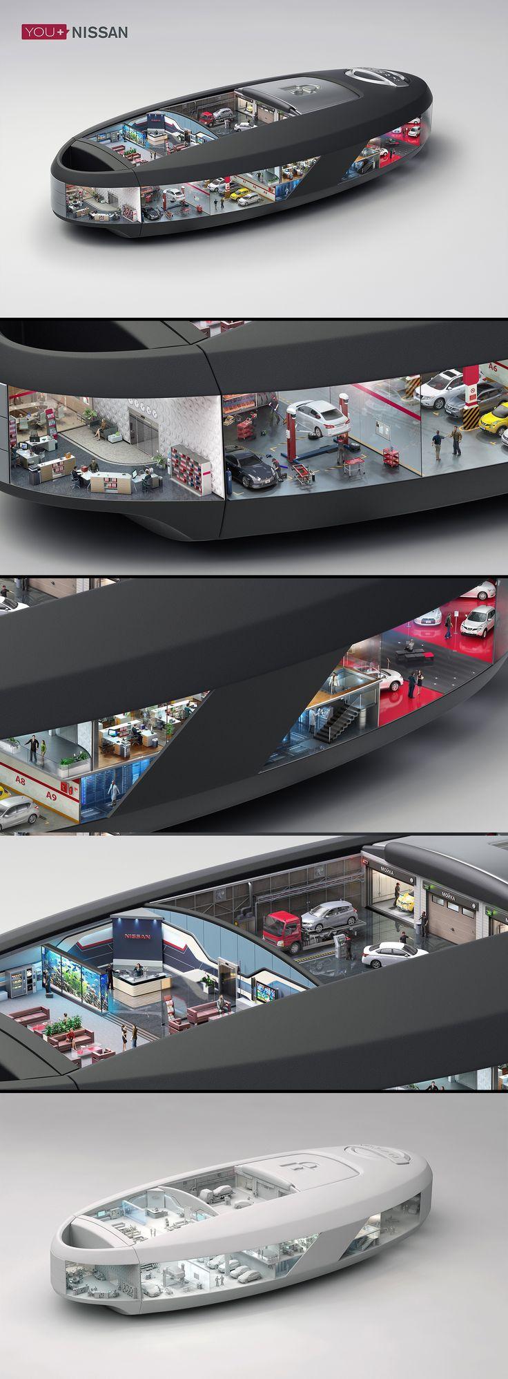 You+Nissan 3D-графика © Владимир Андреев