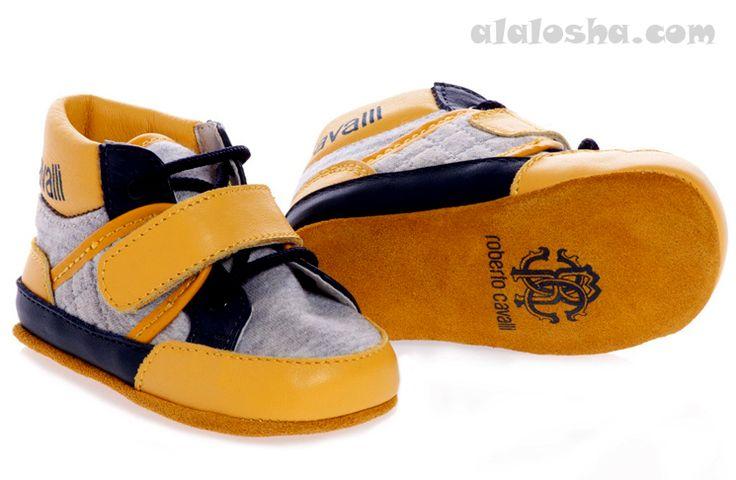 ALALOSHA: VOGUE ENFANTS: Baby Boys Pre-Walker Shoes FW'14 #robertocavalli #kids #baby