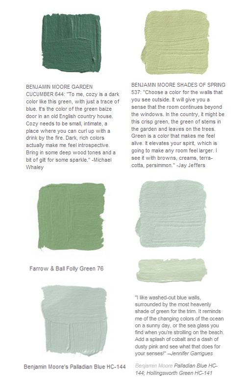 I really like this palette of greens!  Palladian Blue Shades of spring