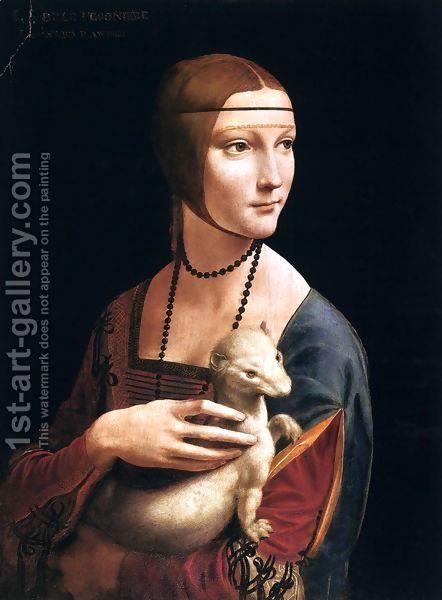 Leonardo Da Vinci:Portrait of Cecilia Gallerani (Lady with an Ermine) 1483-90