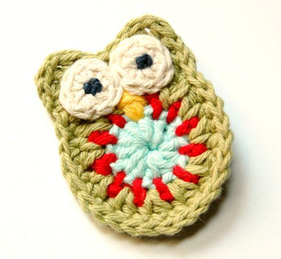 58 besten Crochet clips Bilder auf Pinterest | Haarspangen häkeln ...