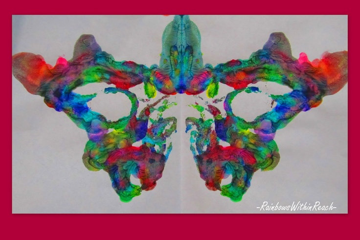 symmetry in butterfly painting for preschool, artwork for children, kindergarten