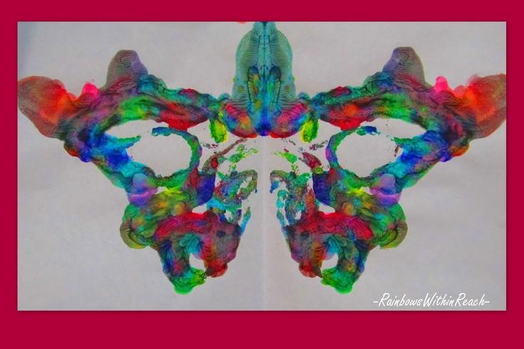 symmetry in butterfly painting for preschool, artwork for children, kindergarten