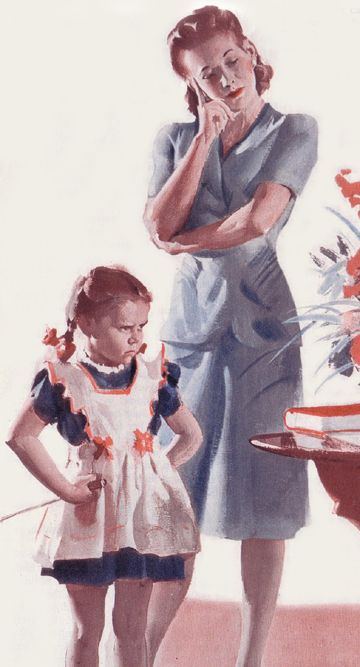 Mother-Daughter Standoff ~ Harry Anderson