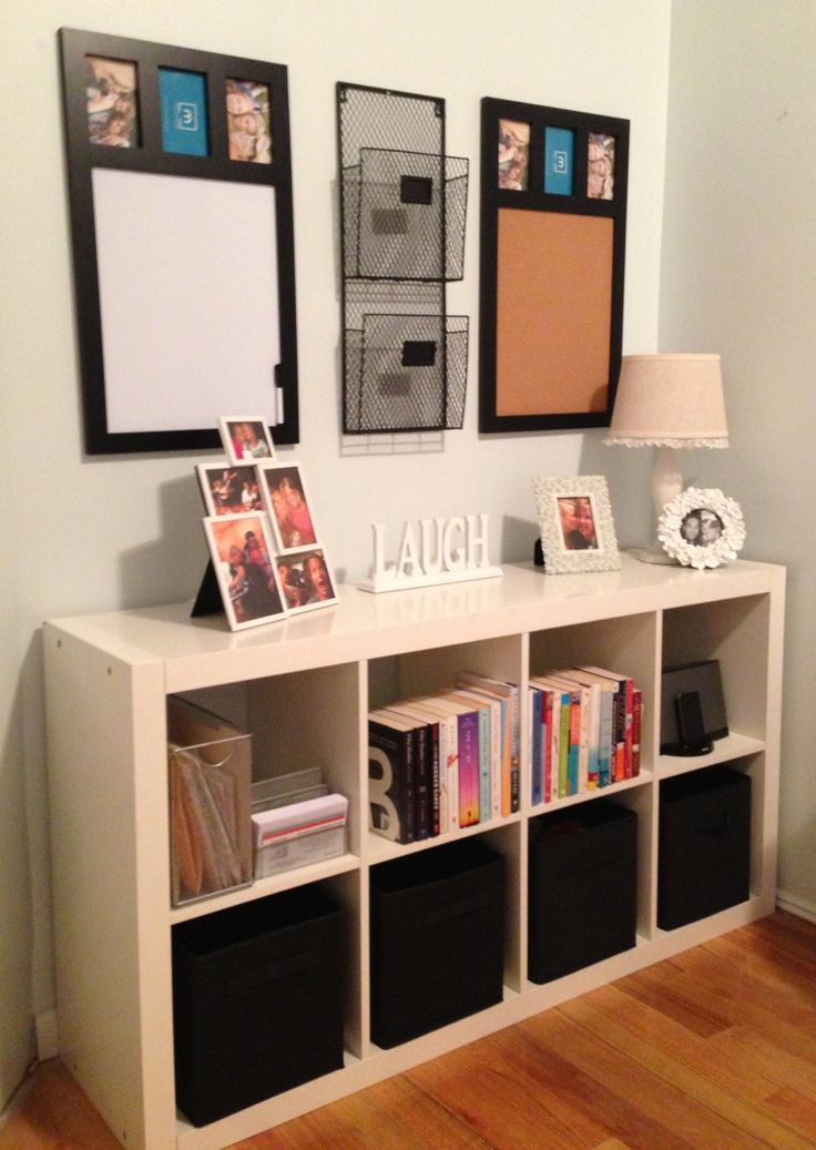 command center using and ikea expedit shelf and matching. Black Bedroom Furniture Sets. Home Design Ideas