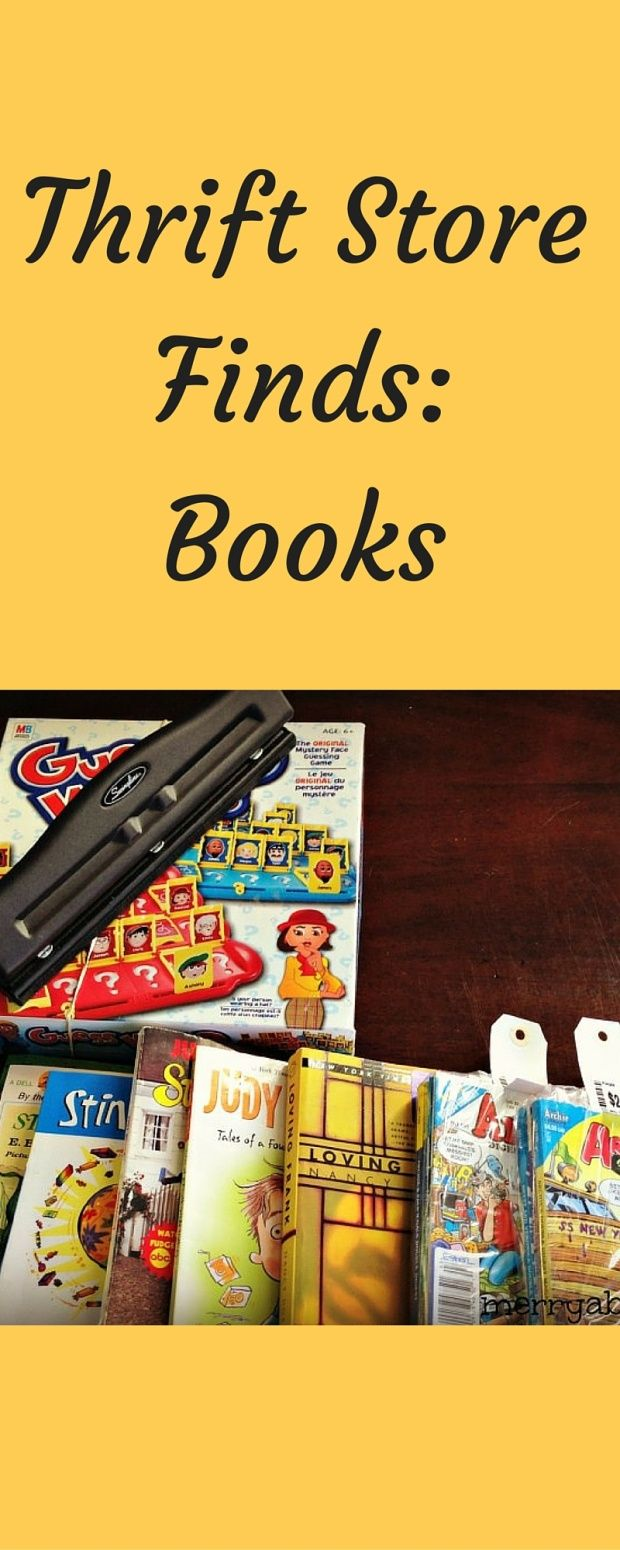You never know what you might find at the thrift store. Check out my favorite thrift store book finds.