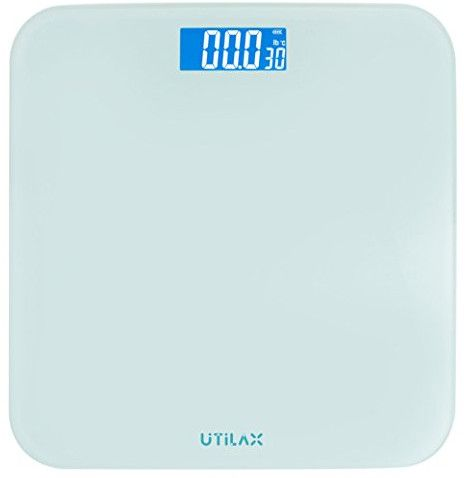 LITTLE BIG LIFE: A small digital bathroom scale for a tiny house bathroom. Get it here!