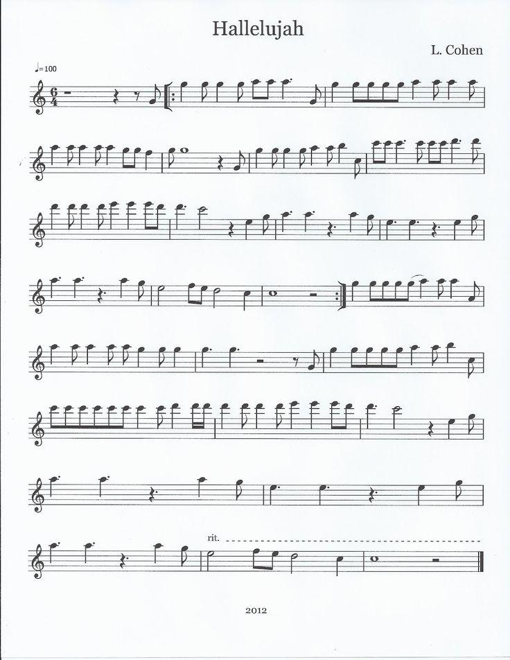 Flute & Tenor Sax Sheet Music :): Hallelujah