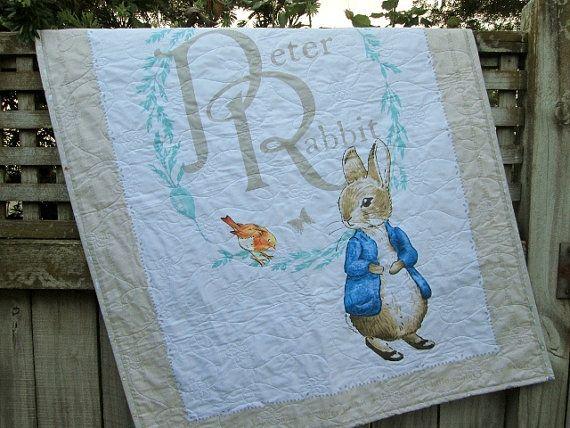 Peter Rabbit Baby Quilt Beatrix Potter Quilt Peter by bellazahn