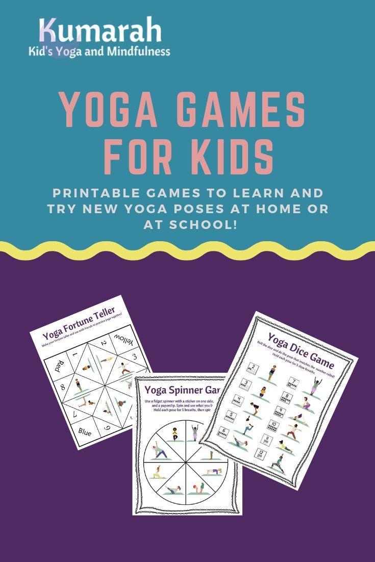 Printable Yoga Games For Kids Bundle Kumarah Kids Yoga Yoga For Kids Yoga Games Yoga Lesson Plans