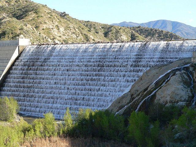 Little Rock Creek Dam in Los Angeles County, California