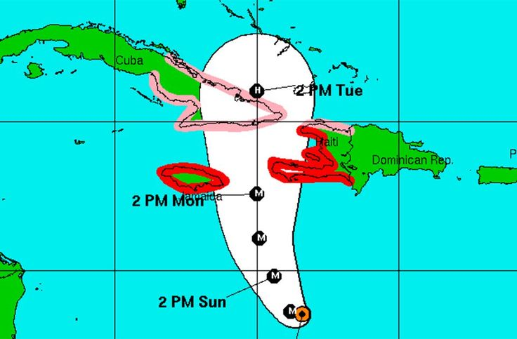 Hurricane Matthew is threatening much of the northern Caribbean, including Jamaica and Haiti, according to the National Hurricane Center.