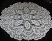 Items similar to Elegant Hand Crochet White Tablecloth on Etsy