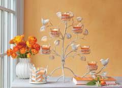 Vögel & Vorboten Kerzen- & Wandhalter Zaubervogel. Metall im Vintage-Stil, inkl. fünf Votivkerzengläser. Als Tischdekoration oder ohne Fuss als Wandschmuck verwendbar. BxH: 34x43 cm. https://susannerentsch.partylite.ch/Shop
