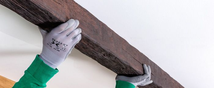 C mo instalar vigas decorativas leroy merlin placas - Vigas falsas de madera ...