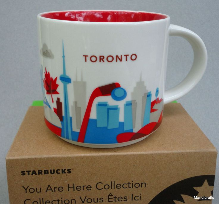 Coffee #Mug #Starbucks Cup #Toronto Canada You Are Here Collection 2015 New boxed 14 oz