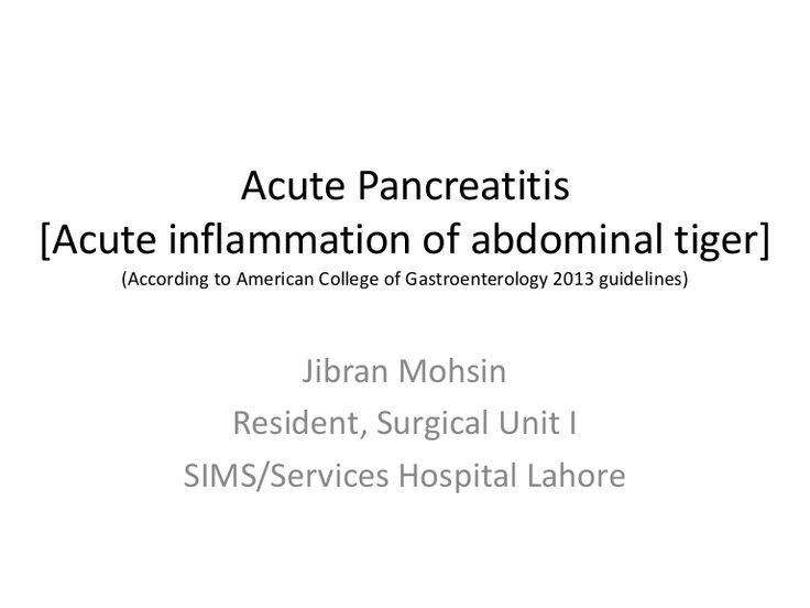 Acute Pancreatitis (According to American College of Gastroenterology…