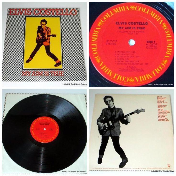 Elvis Costello My Aim Is True LP 1977 Columbia JC 35037 EX/VG+