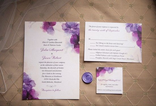 Wedding Invitations In Maryland: Best 25+ Purple Wedding Invitations Ideas On Pinterest