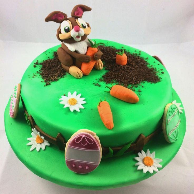 Fondant Cake, Eastercake, Ostern, Backen