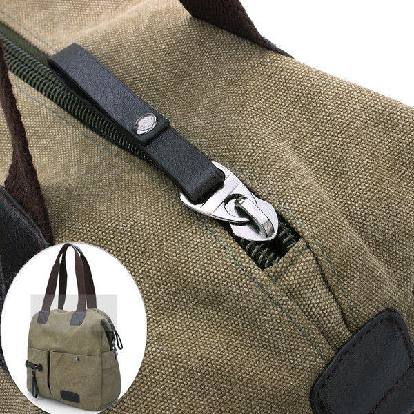 Ekphero Men Women Pillow Vintage Canvas Bag Shoulder Messenger Handbag