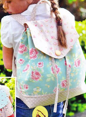 PATTERN - Daisy Girl Backpack - fun for mother and child bag PATTERN
