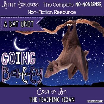 Bats, megabats, microbats, vampire bats, OH MY!  I LOVE this bat unit for teaching non-fiction text features, vocabulary, writing, and more!  So many activities for Kindergarten and First Grade!